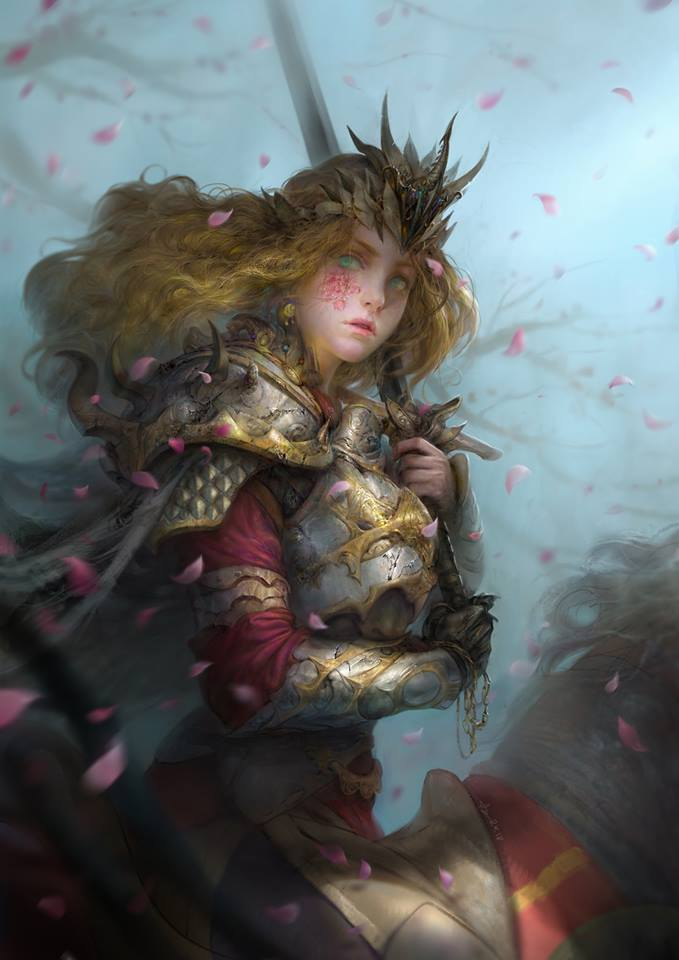 Single art: Sword and Flower